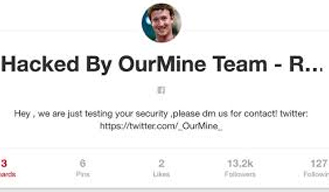 Twitter and Pinterest account of Mark Zuckerbergs gets hacked