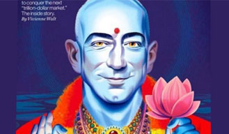 Fortune cover shows Amazon CEO as Lord Vishnu; hurts Hindu sentiments