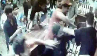 Caught on CCTV: 5 men beating eatery shop owner in Noida sector 37