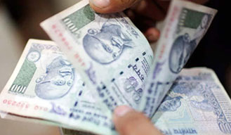 Rupee up 4 paise against US Dollar