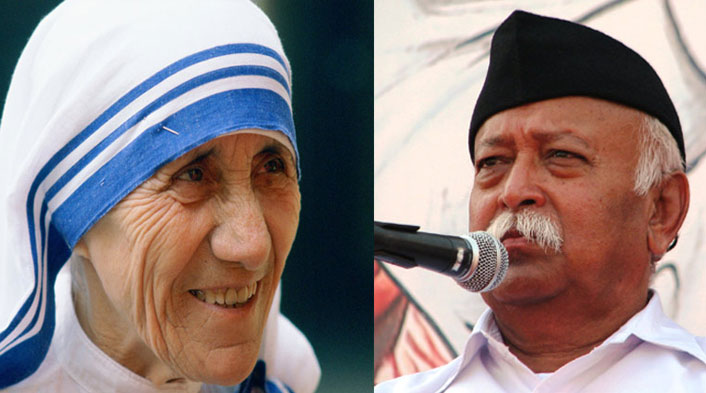 RSS chief Mohan Bhagwat targets Mother Teresa, says conversion was main objective behind her service