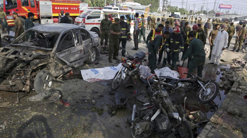 26 killed, 57 injured in a suicide bomber attack in Pakistan's Lahore
