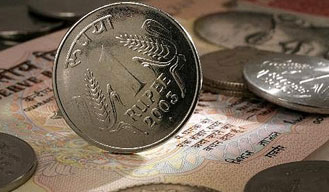 Rupee up by 4 paise against the US dollar